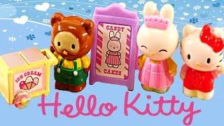 Hello Kitty Portable Candy Store Play Doh Cupcake Popcorn Ice Cream Barbie Princess Ariel Shopkins