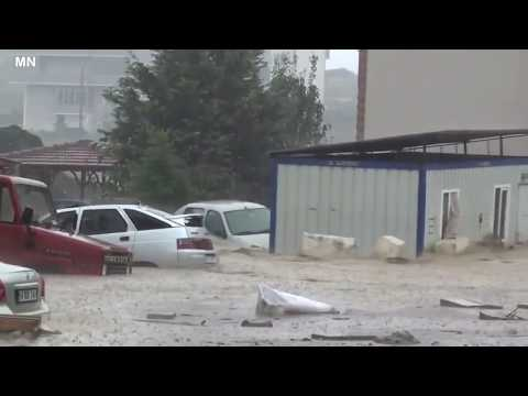 Severe Flooding due to Medicane in Sakarya kaynarca, Turkey - September 30, 2018