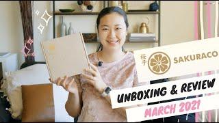SAKURACO Unboxing March 2021   First Ever Sakuraco Box!   Sakuraco Coupon Code