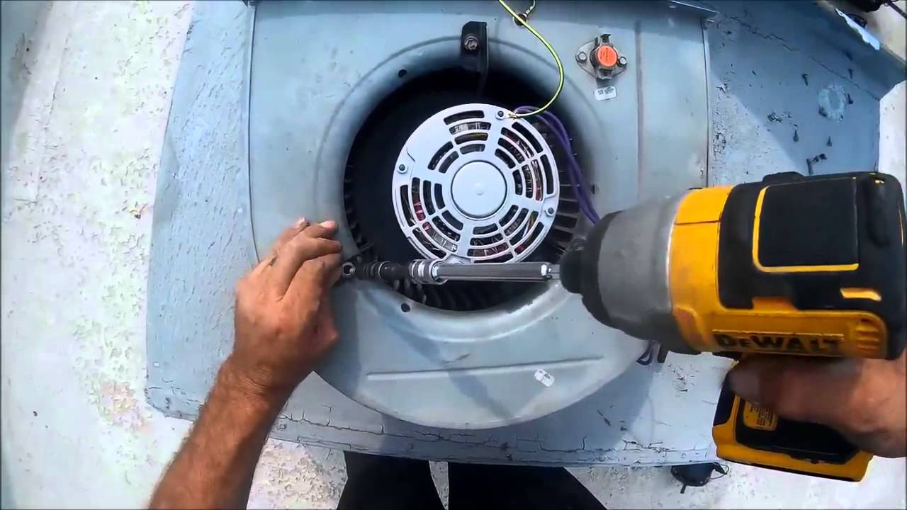 Lennox roof top blower motor replacement youtube for Lennox furnace blower motor not working