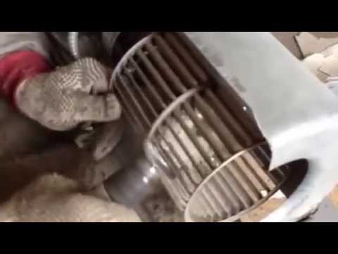 Cleaning wheel of guestroom fan coil unit