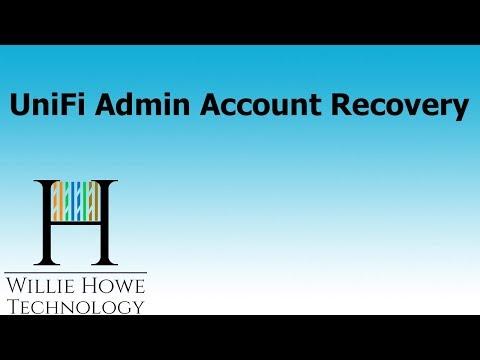 Ubiquiti UniFi Admin Account Recovery - YouTube