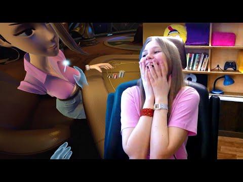 Видео: Реакция девушки Мармок пробует виртуальную реальность реакция