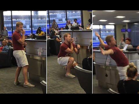 Airline passenger turns flight delay into karaoke session  - Travel Guide vs Booking