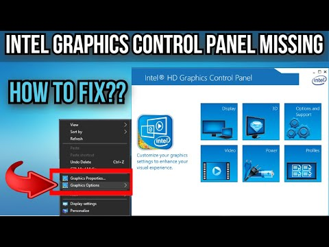 ➢Intel HD Graphics Control Panel Missing   Intel Graphics Missing From Desktop Right Click   2021 