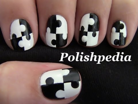 Puzzle nail art youtube puzzle nail art prinsesfo Image collections