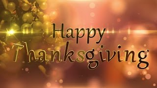 Happy Thanksgiving - Moving Particles - Motion Graphics