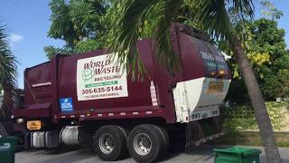 Newway Sidewinder Autocar and Mack LEU. Trash and Recycling truck (part 11)