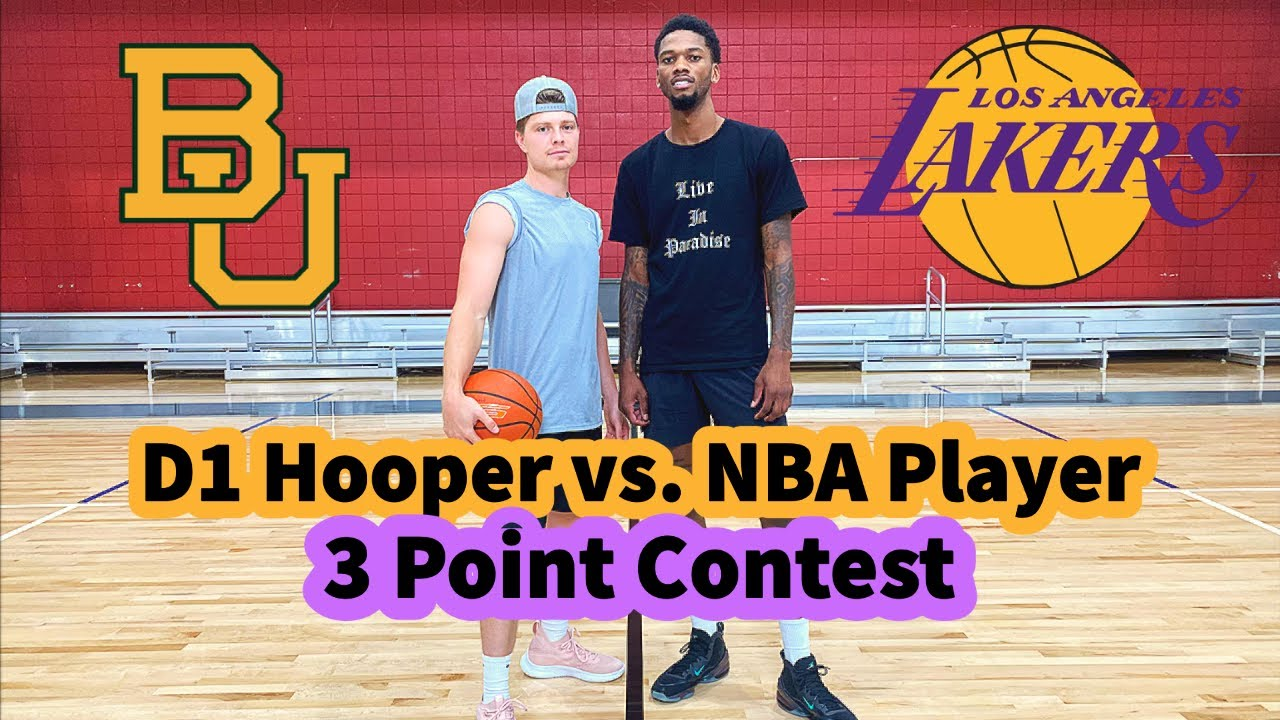 D1 Hooper vs. NBA Player 3 Point Contest!! (Lakers Forward Alfonzo McKinnie DOESN'T MISS!!)