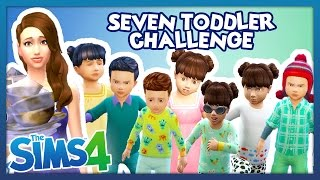 The Sims 4 - Seven Toddler Challenge - Part 2 - IM GOING CRAZY!