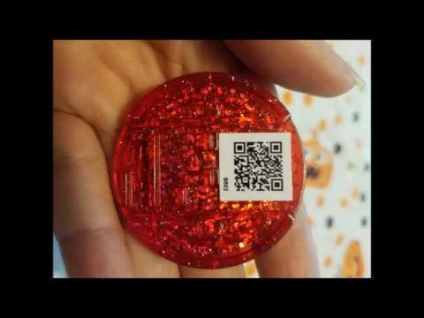 Yo Kai Watch Qr Codes Black Red Medals