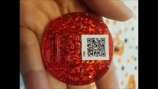 Yo-kai Watch QR codes + black & red medals