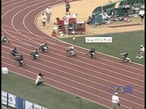 Linda Mastandrea T32/T33 100m race 1996 Paralympic Games