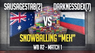 stats match 1 snowball effect sausagestab 2 vs darknessdex 7 wb r2 ti3 mowas2