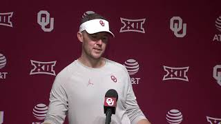 OU Football: Lincoln Riley vs WVU