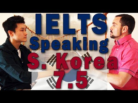 IELTS Speaking Interview Over Band 7 S. Korea W Subtitles