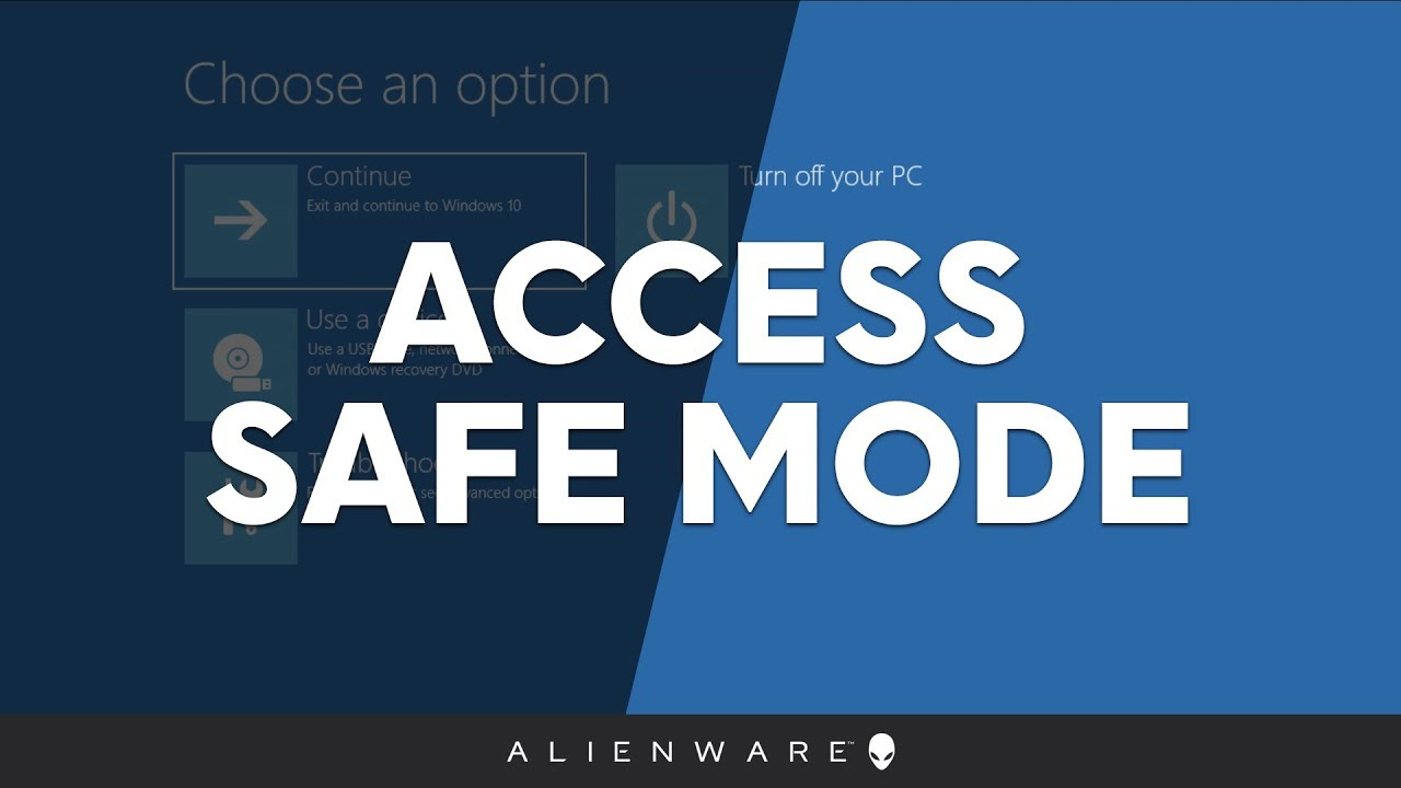 Enter Safe Mode in Windows 10 - Alienware - YouTube