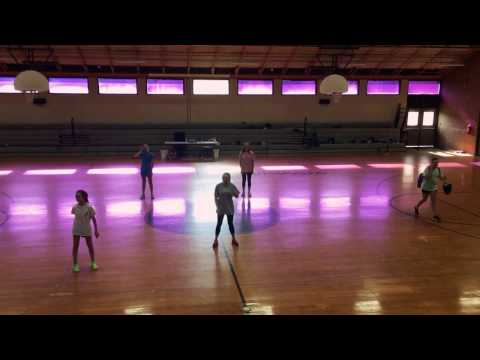 Scottsboro Junior High School dance line try out dance 2017