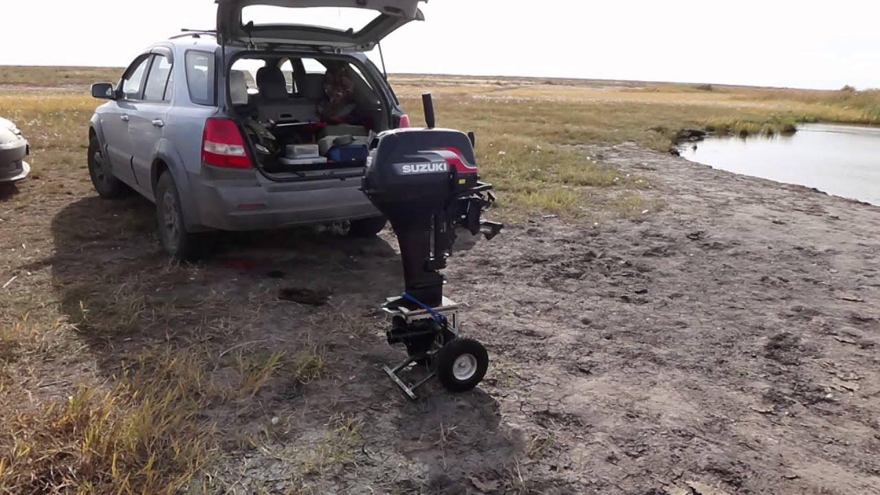 Тележка для лодочного мотора. Тележка своими руками.