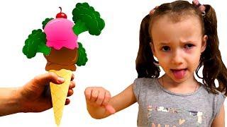 Do You Like Broccoli Ice Cream? Kindergarten food song by Ulya and Papa