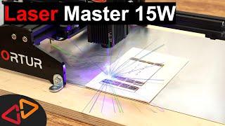 SMALL But POWERFUL Desktop Laser - Ortur Laser Master 15W