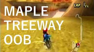 Mario Kart Wii - Maple Treeway Out of Bounds Glitch