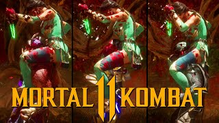 "Mortal Kombat 11 - Jade ""What Would Mileena do"" Brutality Performed on all characters"