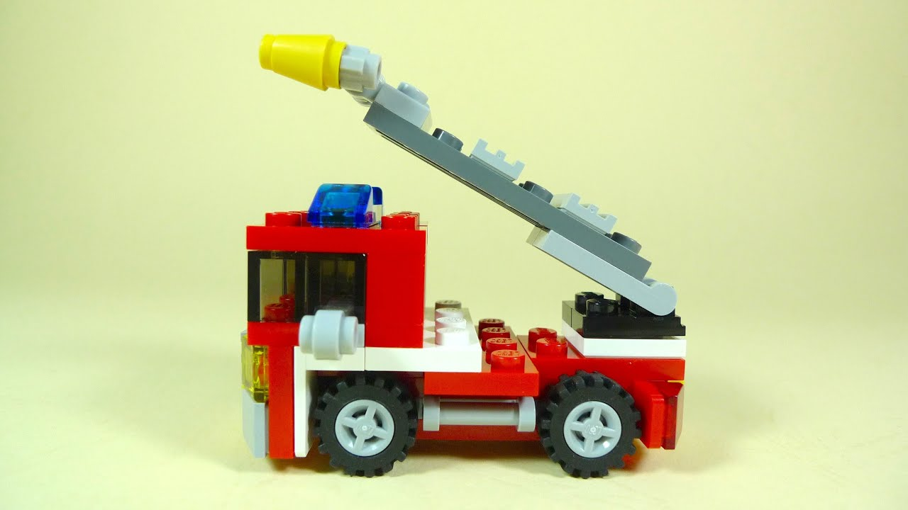 how to build lego fire truck lego creator 6911 youtube. Black Bedroom Furniture Sets. Home Design Ideas
