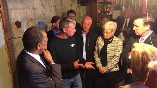 HUD Secretary Ben Carson Tours  Home Damaged by Crumbling Foundation