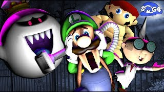 Luigi makes his way through a haunted mansion to save Mario, but gh...