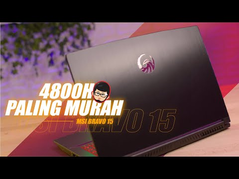 Laptop Dengan Ryzen 7 4800H Termurah | Review MSI Bravo 15 | Lazy Tech