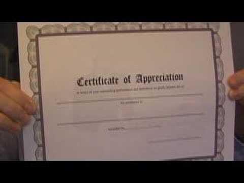 printable certificates on your computer - how to - YouTube