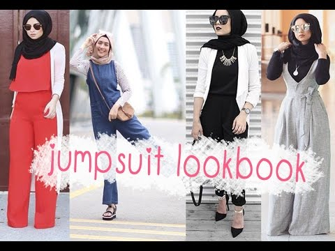 Casual Hijab Fashion -  Jumpsuit Lookbook -  The Best Choice For This Summer