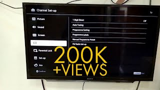Sony Bravia TV Channel Set Up   Auto Tuning Bangla