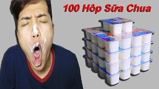 NTNVlogs - Thử Ăn 100 Hộp Sữa Chua ( Sour milk )