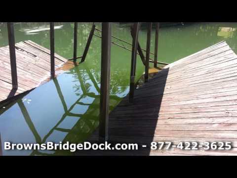 Refloat Sunken Boat Docks on Lake Lanier Georgia