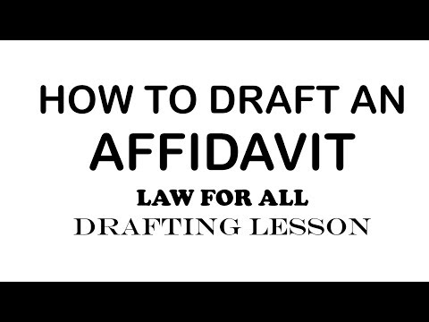 How to Draft an Affidavit | Law Lessons | Drafting Series