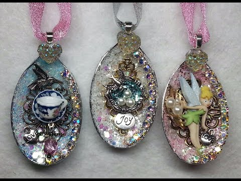 DIY~Gorgeous Sparkly Plastic Spoon Ornaments From Dollar Tree! Amazing!