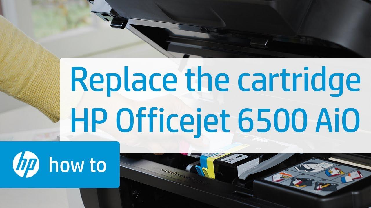 תוספת Replacing a Cartridge - HP Officejet 6500 All-in-One | HP VH-55