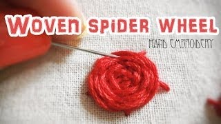 Woven spider wheel: Hand embroidery Thumbnail