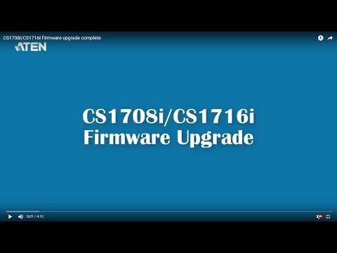 CS1708i/CS1716I Firmware Upgrade