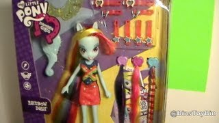 Equestria Girls Radical Hair RAINBOW DASH Deluxe My Little Pony Doll Review! by Bin's Toy Bin