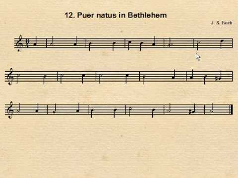 Coral J. S. Bach 12 Puer natus in Bethlehem