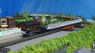 【鉄道模型】門デフC57180+12系オリエント急行風