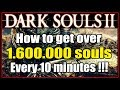 "DARK SOULS 2 - INFINITE SOULS FARMING 1.600.000 SOULS + 6 ""TWINKLING TITANITES"" EVERY 10 MINUTES!!!"