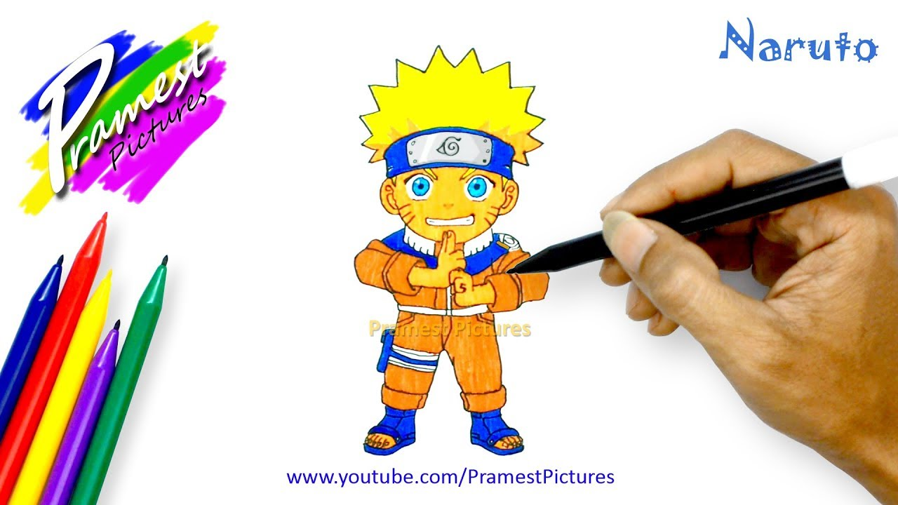 How To Draw Naruto Cartoon Coloring Pages For Kids