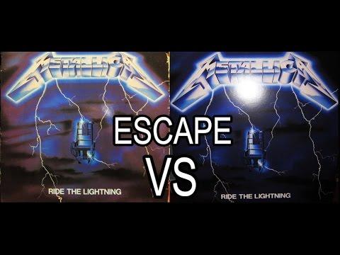 METALLICA- Escape RIDE THE LIGHTNING 1984 Vinyl VS. 2016 Remastered Vinyl HD