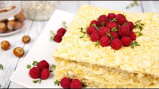 Торт НАПОЛЕОН Нереально Вкусный рецепт | Ленивый НАПОЛЕОН ( Napoleon Cake )