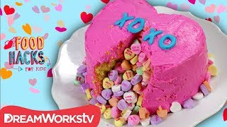 Valentine's Piñata Cake and Other LOVE-ly Treats | FOOD HACKS FOR KIDS
