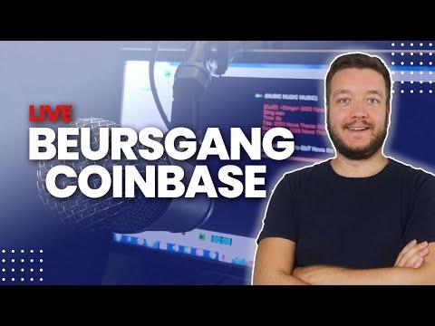 Live: Beursgang van Coinbase - Samen naar de beurs kijken
